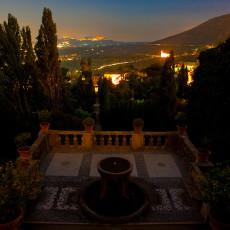 Tivoli - Villa D'Este - Panorama dal Loggione