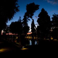 Tivoli - Villa D'Este - Peschiera al crepuscolo